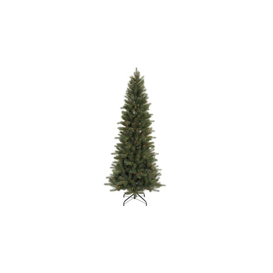 7.5 Pre Lit Blue Spruce Artificial Christmas Tree   Multi Color Dura Lights
