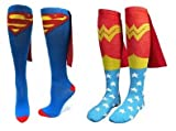 DC Comics Superman & Wonder Woman Cape Socks Two Pack (One Size)