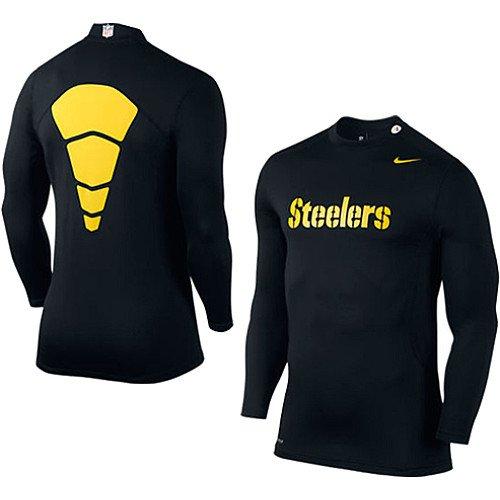 spain nike pittsburgh steelers hyperwarm long sleeve mock turtleneck t shirt  black da114 aa46e c97e5b708