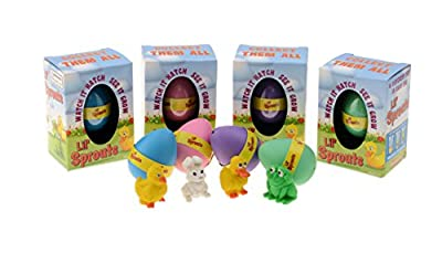 Lil' Sprouts Hatching Easter Eggs - (4 Pack) ~ Watch Them Grow Overnight by Kangaroo Manufacturing