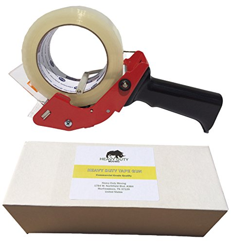 Heavy Duty Packing Tape Dispenser - Tape Gun for Moving, Packaging and Shipping - Commercial Quality, Easy Loading - for Sealing Boxes Quietly and Smoothly by Heavy Duty Moving (Gun Blue Sealer compare prices)