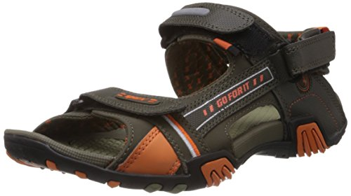 Sparx-Mens-Olive-and-Orange-Sandals-and-Floaters-7-UK-SS-430
