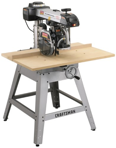 Craftsman 9-22010 Professional 3 Horsepower 10-Inch Radial Arm Saw with Laser Trac (Radial Arm Saw Table compare prices)
