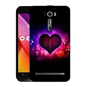 Snoogg Colorful Heart Designer Protective Back Case Cover For ASUS ZENFONE 2 LASER ZE601KL