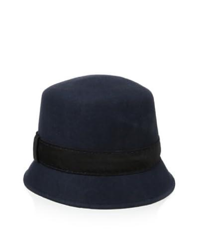 Giovannio Women's Hand Stitched Faille Band Bucket Hat, Navy