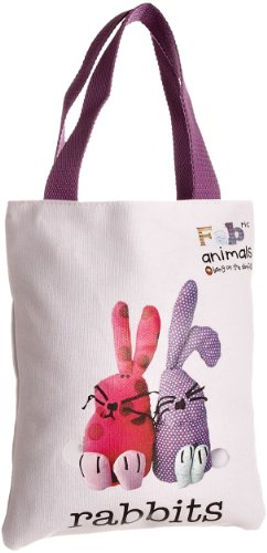 Fabric Animals Women's Rabbits Book Bag With