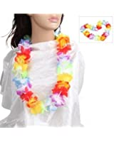 12 x hawaiian lei neck garlands, party bag filler, fancy dress, beach party adults or kids