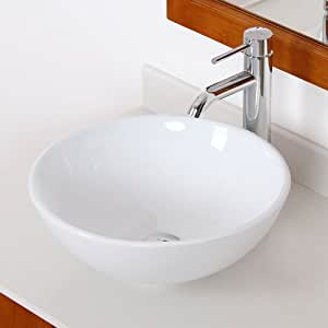 Elite bathroom bowl white ceramic porcelain vessel sink - White porcelain bathroom fixtures ...