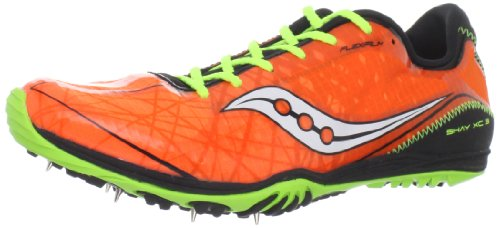 Saucony Men's Shay XC3 Spike Running Shoe,Vizipro/Black/Citron,7.5 M US