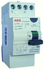 AEG AUN605825 Inter Différentiel 40 A 30 MA Type A avec bornes étagées