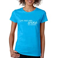 Just Be Tees Women's Live Free And Wine Short Sleeve Tee