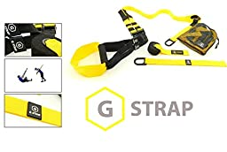 YELLOW G-STRAPS Suspension Body Fitness Trainer (5 COLORS) HIGH QUALITY Guaranteed, Resistance Home Gym Fitness Training, WARRANTY