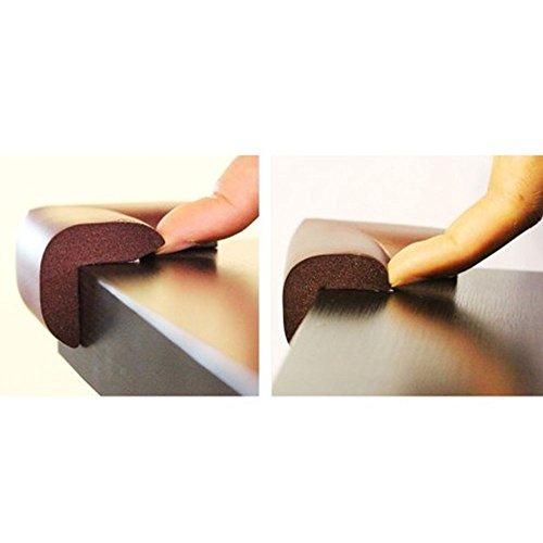 My Baby Table Corner Guards 8 Pcs Of Dark Brown Flexible