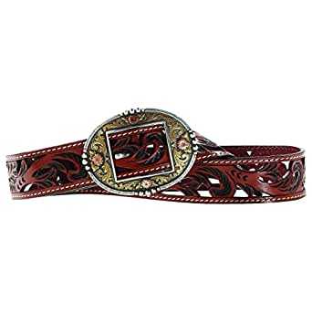 Ariat Women's Lorena Leather Belt, Brown, S at Amazon Women's