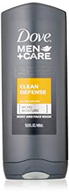 Dove Men Care Body and Face Wash Clean Defense 13.5 Ounce