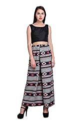 New Sierra women plazo west elastic ikart print
