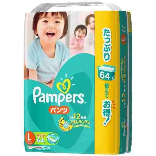 P&G | Diapers | Pampers Cotton Care Pants L-size 64 sheets [ Japanese Import ]
