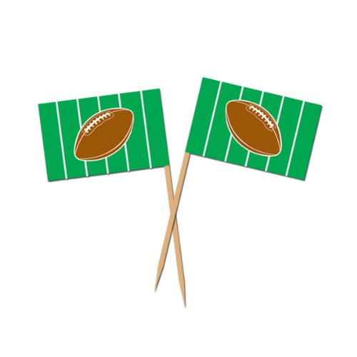 Beistle 60127 50-Pack Football Picks for Parties, 2-1/2-Inch