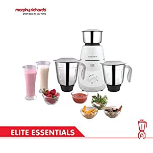 Morphy Richards Elite Essentials 500-Watt Mixer Grinder (White)