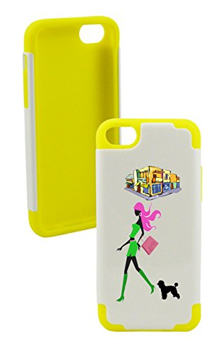 Phonetatoos (Tm) For Iphone 5C Shopping Plastic & Silicone Case- Lifetime Warranty (Yellow)