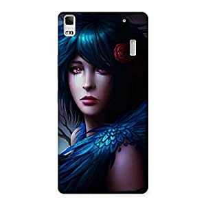 Delighted Crossed Angel Multicolor Back Case Cover for Lenovo K3 Note