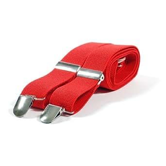 Accessories - Braces Bretelles fines  - Rouge - Rouge - Taille unique