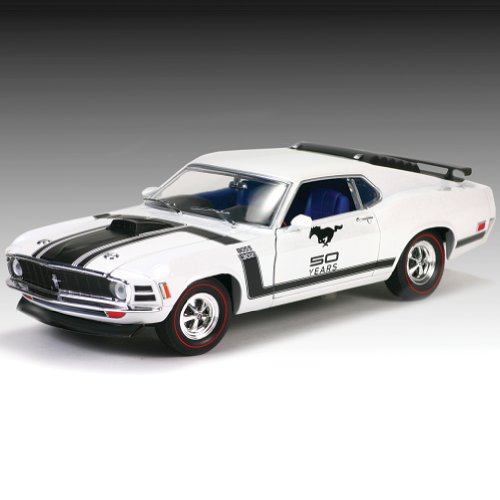 1970 Ford Mustang Boss 302 Die Cast: Pony Car With Anniversay Logo