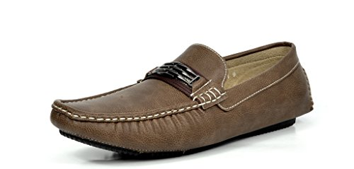BRUNO MARC MODA ITALY KENDO-01 Men's Classy Fashion On The Go Driving Casual Loafers Boat shoes Brown Size 10