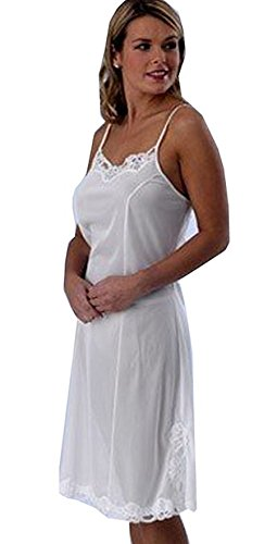 Marlon Full Slip with Adjustable Strap. Black or White Chemise Petticoat UK 12-26