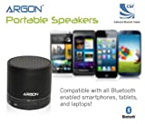 Argon Bluetooth Mini Wireless Portable Rechargeable Speaker for all iPhone iPod iPad Blackberry Android smartphones and MP3 players. Includes Mic Audio Input Port and Micro SD Card Slot [Black]