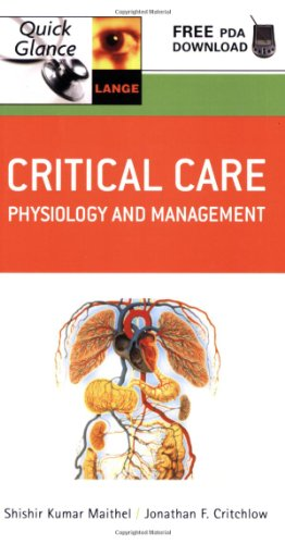 Critical Care Quick Glance: Physiology And Management front-906119