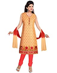 Elan Vital Women's Cotton Straight Salwar Suit - B0188YG3N2
