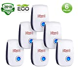 Ultrasonic Pest Repeller,Pest Reject,Pest Repeller Plug In,Ultrasonic Pest Repellent,Pest Control Repeller in Indoor,Get Rid of Insect,Mice,Rats,Spiders,Bed Bugs,Roaches,Child&Pet Safe(6 Pack) (Color: Blue light Ultrasonic Pest Repeller, Tamaño: 2.24inch X 1.06inch X 3.34inch)