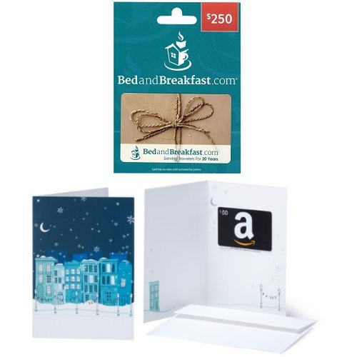 $250 Bedandbreakfast.com Gift Card and $50 Amazon.com Gift Card ...