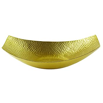 Elegance Soft Gold Concave Bowl, 15.5