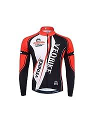 Apparel  TOPTIE Mens Race Cut Long-Sleeve Biking Cycling Jersey RED-XL a6d08d5ca