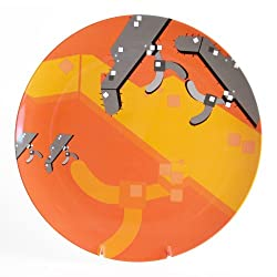 Atlas Made Terminal Airport Map Melamine Dinnerware, Orange