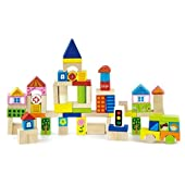 Wooden City Blocks - 75 Pieces - by Original Toy