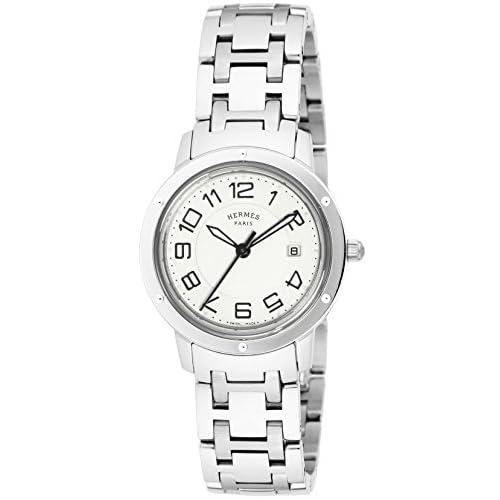 [エルメス]HERMES 腕時計 クリッパー シルバー文字盤 デイト CP1.310.220.4966 レディース 【並行輸入品】