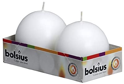 Bolsius Outdoorindoor Ball Candles 70mm Tray Of 2 - White by Ivyline