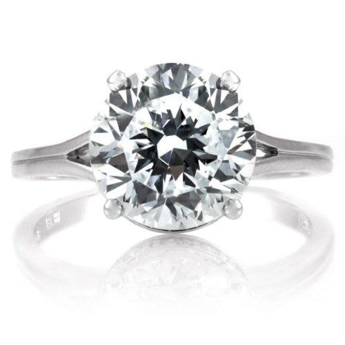 Shanta's 3.5 CT CZ Engagement Ring .925 Genuine Engagement Sterling Silver Anniversary Ring Band Gift Boxed Size 6