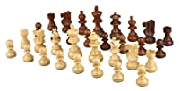 Morrigan High Quality Weighted Wood Chess Pieces - Pieces Only - No Board - 3.5 Inch King