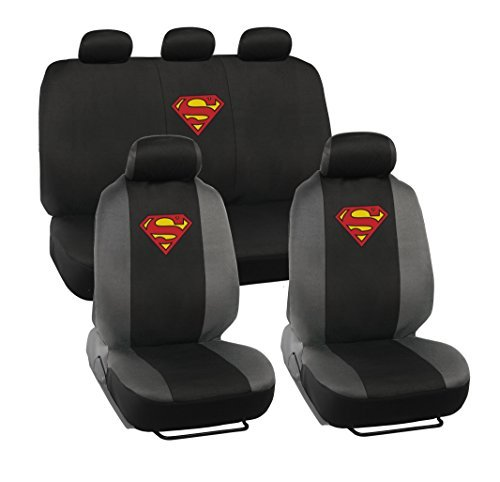 warner-brothers-superman-seat-covers-for-car-suv-universal-fit-auto-accessories-w-belt-pad-steering-