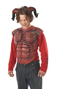 California Costumes Men's Demon Horns W/Teeth,Red,One Size Costume Accessory