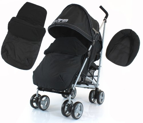 ALL NEW 2011 ZETA VOOOM (COMPLETE Plain) WITH FOOTMUFF HEAD HUGGER AND RAINCOVER - BLACK
