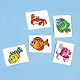 Tropical Fish Tattoos (6 dz) by Funexpress TOY