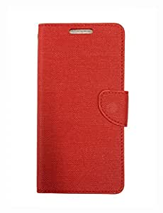 Celson Flip Cover for Lyf Flame 1 Flip Cover Case - Red