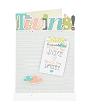 New Baby Twins Greetings Card