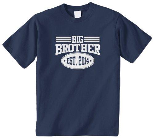 Threadrock Big Boys' Big Brother 2014 Youth T-Shirt S Navy front-1038047