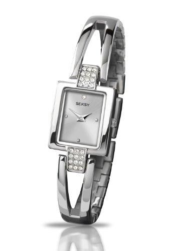 Seksy Amour by Sekonda Ladies Silver Dial Swarovski Crystal Bracelet Watch 4200